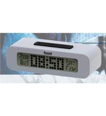 DESPERTADOR DIGITAL LCD PILAS NEGRO SAMI LD-2027