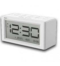 DESPERTADOR DIGITAL LCD PILAS BLANCO SAMI LD-1116