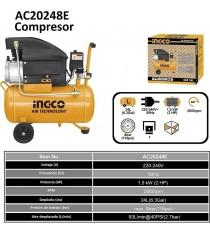 COMPRESOR AIRE 1,5W 2HP AC20248E INGCO