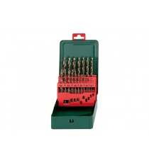 Metabo 627157 Estche de brocas HSS-CO 1 - 10 Set de 19 Piezas
