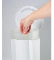 Papelera Pedal Blanco Baño Habitacion Plastisan Pol 11001