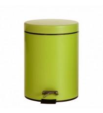 Papelera Metal con Pedal Tapa Verde Pistacho Liso 3 Litros