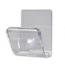 Percha Mini Master Adhesiva Transparente Brinox B5204-0F