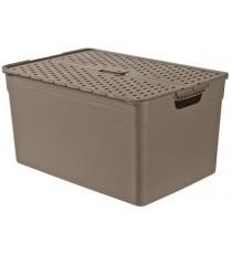 Caja con Tapa Marrón 30 Litros Curver Pixxel