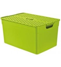 Caja con Tapa Verde 30 Litros Curver Pixxel