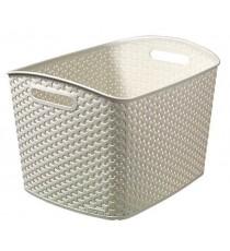 Caja Organizadora Plástico Mimbre Blanco Vintage Curver My Style XL