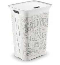 Pongotodo Plástico Blanco Decorado 60 Litros Kis Chic Hamper