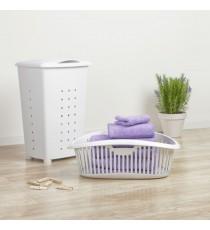 Pongotodo Plástico Blanco con Tapa 60 Litros Tatay 1100601