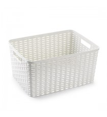Cesta Mediana de Plastico Multiusos Colorer gris, blanco, azul y rojo. PlasticForte 1171454