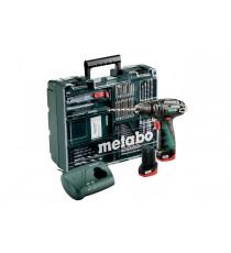 Taladradora a Percusión de Batería mas Taller Portátil con Maletín Profesional. Metabo PowerMaxx SB Basic Set 600385870