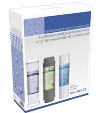 Kit de 3 Cartuchos para Osmosis Inversa HidroWater Nereo