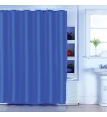 Cortina de Ducha de Baño Azul Oscuro Lisa mas 12 Ganchos de Polyester 180 MM x 200 MM