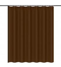 Cortina de Ducha de Baño de Polyester Marrón Lisa mas 12 Ganchos 180 MM x 180 MM