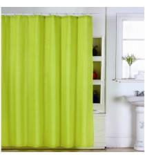 Cortina de Ducha de Baño Verde de Polyester Pistacho Lisa mas 12 Ganchos 180 MM x 200 MM