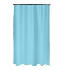 Cortina de Ducha de Baño de Polyester Azul Claro mas 12 Ganchos 200 MM x 200 MM