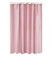 Cortina de Ducha de Baño de Polyester Rosa Claro mas 12 Ganchos 200 MM x 200 MM