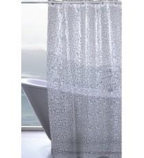Cortina de Ducha de Baño Translúcida de PVC con Textura 3D Anilla Fácil 1800 MM x 2000 MM