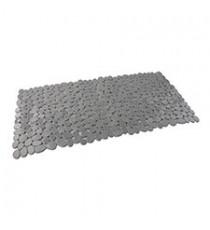 Alfombra de Baño Antideslizante de Plástico Gris diseño Piedras 88 x 40