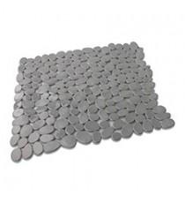 Alfombra de Baño Antideslizante de Plástico Gris diseño Piedras 53 x 53