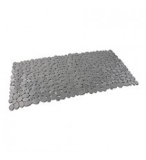 Alfombra de Baño Antideslizante de Plástico Gris diseño Piedras 35 x 70