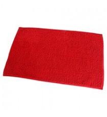 Alfombra de Baño Chenille Roja 80 x 50