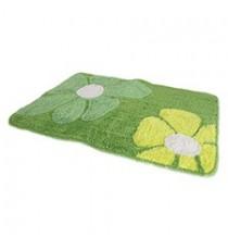 Alfombra de Baño Acrílica Verde diseño Flor 70 x 50