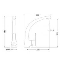 Monomando para el Fregadero Vertical Cromado Genebre K 8 61203