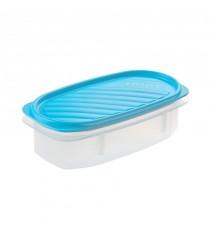 Tupper ovalado con tapa azul 0,5 Litros