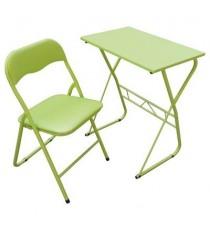 Mesa y silla escolar verde lima