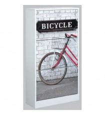 Zapatero de 3 puertas decorado bicicleta