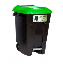 Contenedor de Residuos Negro con Pedal 100 Litros