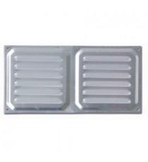 Rejilla de Ventilación Horizontal Aluminio 100 MM x 200 MM