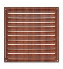 Rejilla de Ventilación Madera Oscura 170 MM x 170 MM