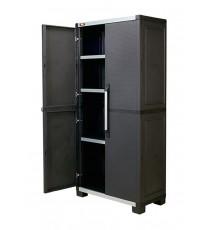 Armario Alto 3 Estantes XL Pro Garage Negro