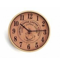 Reloj Pared Madera Decorada Coffee
