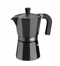 Cafetera Aluminio 6 Tazas Vitro Noir