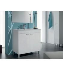 Mueble Baño Blanco Mas Espejo Arkitmobel