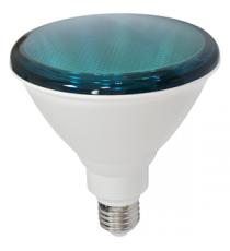 LAMPARA LED PAR38 E-27 18W 3000K VERDE
