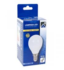 LAMPARA SMD LED ESFÉRICA E-14 6W 3000K CÁLIDA