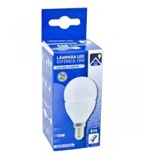 LAMPARA SMD LED ESFÉRICA E-14 10W 6000K BLANCA