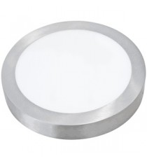 PANEL LED DE SUPERFICIE REDONDO PLATA 18W 6000K Ø22,5 CM