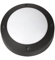 APLIQUE CIRCULAR LISO NEGRO LED 6W 15 CM