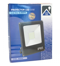 FOCO EXTERIOR LED SMD 50W LUZ BLANCA 6000K