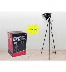 Lámpara De Pie De Studio Negra 21 CM X 143 CM