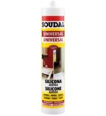 Silicona Acética Universal Aluminio 280 ML