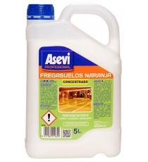 Fregasuelos Naranja Concentrado Perfumado Asevi 5 L