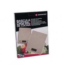 Balanza Electrónica Digital de Cocina Rectangular Plata