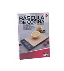 Balanza Electrónica Digital de Cocina Rectangular Madera