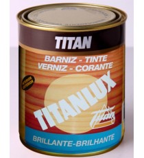 Barniz Tinte Sintético Color Roble Brillante 0,5 L Titanlux