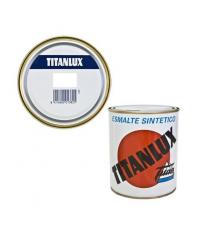 Esmalte Sintético Brillante Blanco Decoración 566 D 1 Litro Titanlux